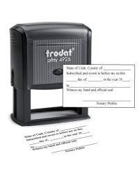 Utah notary Jurat-N18 Trodat Self-Inking Stamp, Jurat Utah notary . Our notary supplies conform to Utah notary laws, are manufactured in-house.