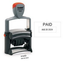 pdf paid stamp with date