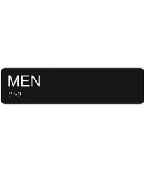Men 2″ x 8″ economy braille signs. Produced with standard designs these ADA signs are an economical way to achieve ADA compliance.
