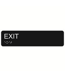 Exit 2″ x 8″ economy braille signs. Produced with standard designs these ADA signs are an economical way to achieve ADA compliance.