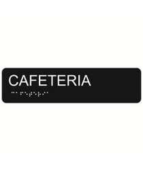 Cafeteria 2″ x 8″ economy braille signs. Produced with standard designs these ADA signs are an economical way to achieve ADA compliance.