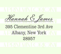Wedding Return Address Elegant stamp custom return address self inking stamp great for stationary, weddings, invitations.