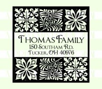 Custom Return Address with Block Print stamp custom return address self inking stamp great for stationary, weddings, invitations.