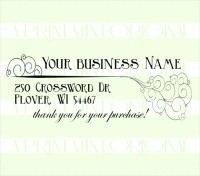 Whimsical business card etsy shop custom self inking stamp colourmoves