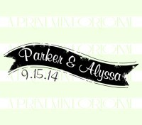 Custom Name Wedding Thank You stamp custom return address self inking stamp great for stationary, weddings, invitations.