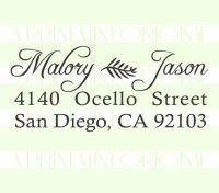 Custom Calligraphy Wedding Return Address Stamp stamp custom return address self inking stamp great for stationary, cards, invitations.