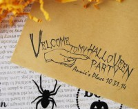 Custom Halloween Gift Tag, Treat Label self inking and great for cards, gifts, and crafts.
