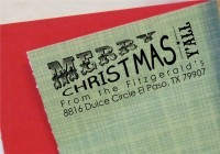 Texas Christmas Return Address  self inking and great for cards, gifts, and crafts.