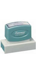 "Signature Stamp X-stamper Pre-Inked Stamp 7/8"" x 2-3/4"", N18 X-stamper pre-inked stamps are designed to last for years with a laser engraved die for durability."