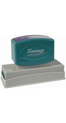 "Signature Stamp N26 X-stamper Pre-Inked Stamp 11/16"" x 3-5/16"" N26  Xstamper pre-inked stamps are designed to last for years with a laser engraged die for durability."