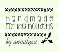 Handmade for the Holidays Cross Stitch rubber stamps great for cards, gifts, and crafts.