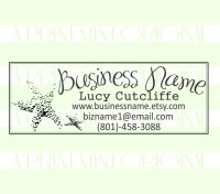 Custom Star Fish Business Card Sea S Return Address Rubber Stamp Great For Stationary