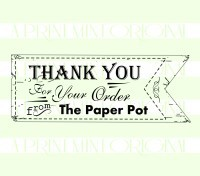 Business card stamp banner thank you custom rubber stamp colourmoves