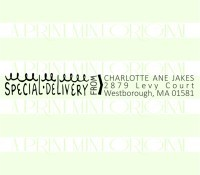 Custom Return Address Special Delivery  custom return address rubber stamp great for stationary, weddings, invitations.