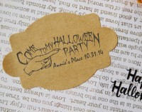 Custom Halloween Invitation custom return address rubber stamp great for stationary, cards, invitations.