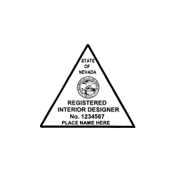 Nevada Registered Interior Designer Seal