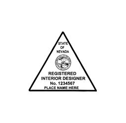 Nevada Registered Interior Designer Seal