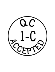 Accepted by Inspection Stamps