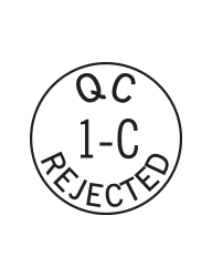 Rejected by Inspection Stamps