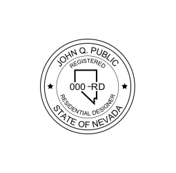 Nevada Registered Residential Designer Seal