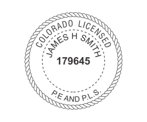 Colorado Professional Engineer and Land Surveyor Seal