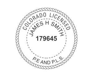 Colorado Professional Engineer and Land Surveyor Seal