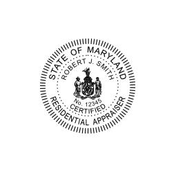 Maryland Residential Appraiser Seal