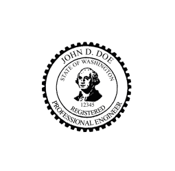 Washington Professional Engineer Seal