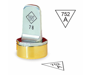 Inspection Stamps Neoprene Triangle