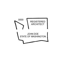 Washington Registered Architect Seal