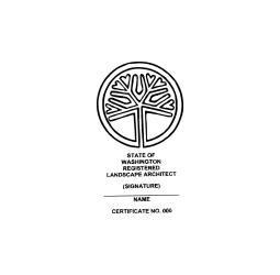 Washington Registered Landscape Architect Seal