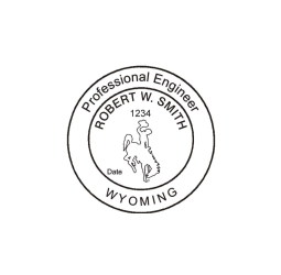 Wyoming Professional Engineer Seal