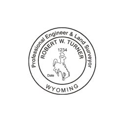 Wyoming Professional Engineer & Land Surveyor Seal