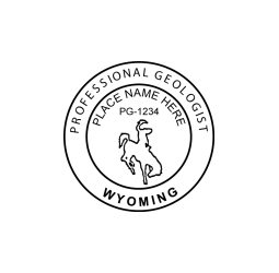 Wyoming Professional Geologist Seal