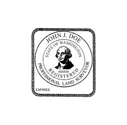 Washington Professional Land Surveyor Seal