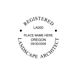 Oregon Landscape Architect Seal