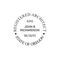 Oregon Registered Architect Seal