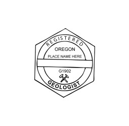 Oregon Registered Geologist Seal