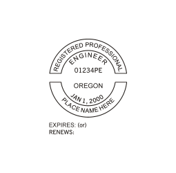 Oregon Professional Engineer Seal