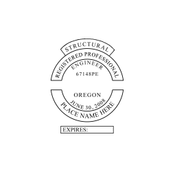 Oregon Registered Structural Engineer Seal