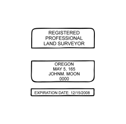 Oregon Professional Land Surveyor Seal