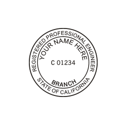 California Registered Professional Engineer Seal