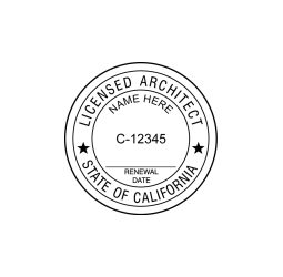 California Licensed Architect Seal