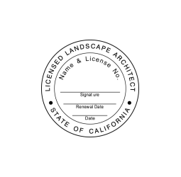 California Licensed Landscape Architect Seal