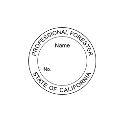 California Professional Forester Seal