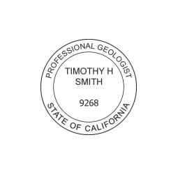 California Professional Geologist Seal