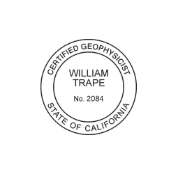 California  Professional Geophysicist Seal