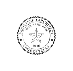Texas Registered Architect Seal