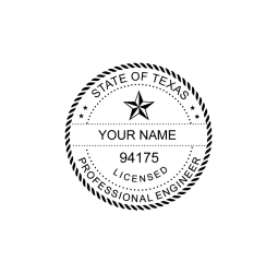 Texas Licensed Professional Engineer Seal