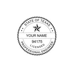 Texas Licensed Professional Engineer Seal